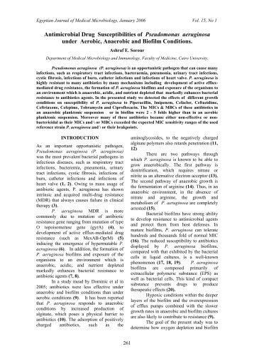 Antimicrobial Drug Susceptibilities of Pseudomonas aeruginosa ...