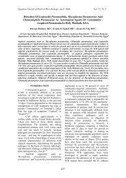 Detection Of Legionella Pneumophila, Mycoplasma Pneumoniae ...