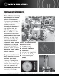 CAST-IN HEATER PRODUCTS - Durex Industries