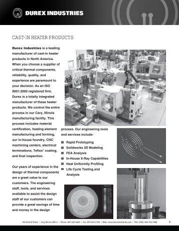 CAST-IN HEATER PRODUCTS - Durex Industries