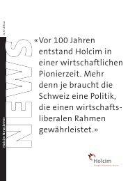 Newsletter 1 / 2012 - Holcim Schweiz