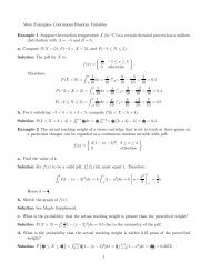 More Examples- Continuous Random Variables Example 1 ...