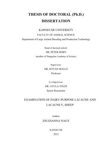 THESIS OF DOCTORAL (Ph.D.) DISSERTATION