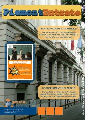 Anno 14 numero 1, Gennaio 2012 - Direzione regionale Piemonte