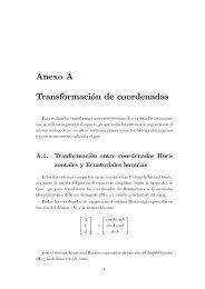 Anexo A Transformación de coordenadas - ULPGC