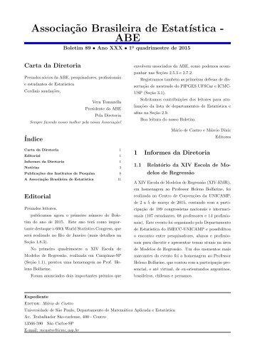 Associação Brasileira de Estatística - ABE