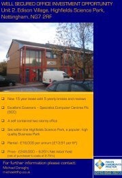 Unit 2, Edison Village, Highfields Science Park, Nottingham, NG7 2RF