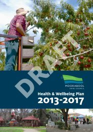 Health & Wellbeing Plan - Moorabool Shire Council