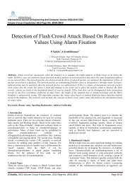 Detection of Flash Crowd Attack Based On Router Values ... - Ijecs