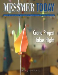 Crane Project Takes Flight - Messmer Catholic Schools