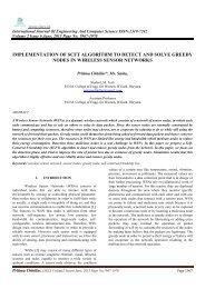 implementation of scft algorithm to detect and solve greedy ... - Ijecs