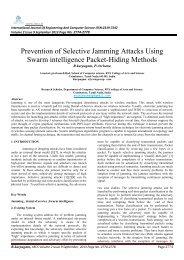 Prevention of Selective Jamming Attacks Using Swarm ... - Ijecs