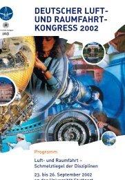 Deutscher Luft- und Raumfahrtkongress 2002 - Deutsche ...