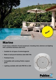 Download pool equipment Marine - Pahlen