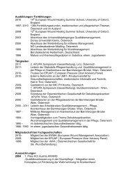Ausbildungen, Tätigkeiten, Auszeichnungen - APUPA