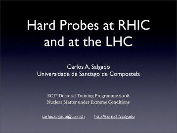 Hard Probes at RHIC and at the LHC