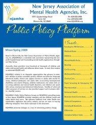 Public Policy Platform - New Jersey Association of Mental Health ...