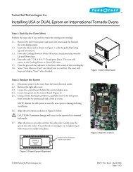 Installing USA or DUAL Eprom on International Tornado ... - Turbochef