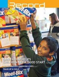 Sanitarium helpS children get a good Start page 9 - RECORD.net.au
