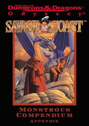 Savage Coast Monstrous Compendium