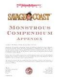 Savage Coast Monstrous Compendium - Page 2