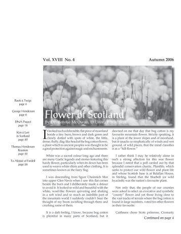 Flower of Scotland - Clan Henderson Society
