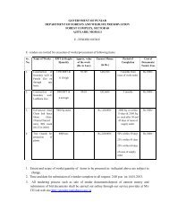 1. Extent and scope of works/quantity of items to ... - Pbforests.gov.in