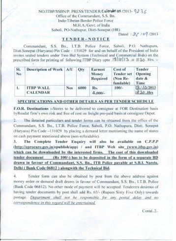 Itb police tenders dating