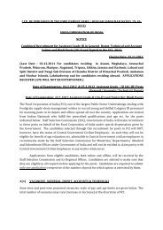 food corporation of india notice - Staff Selection Commission