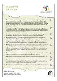 Sjekkliste ved kjøp av tomt