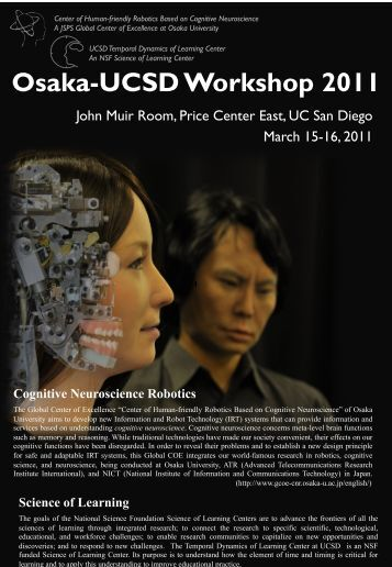 Osaka-UCSD Workshop 2011 - Temporal Dynamics of Learning ...