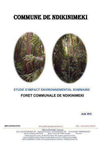 commune de ndikinimeki - Centre Technique de la Forêt Communale