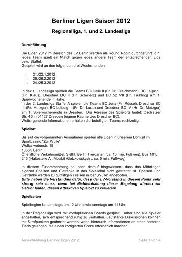 Ausschreibung Berliner Ligen 2012 - Bridge Landesverband Berlin ...