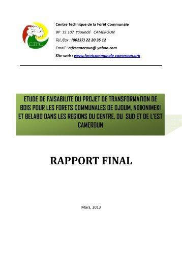 Etude fais_CTFC final - Centre Technique de la Forêt Communale