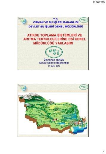 Atıksu Toplama Sistemleri ve Arıtma Teknolojilerine DSİ Yaklaşımı (tr)