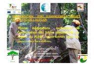 Etat d´avancement du projet FAO-FLEGT/ACFCAM - Centre ...