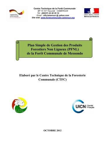 (PFNL) de la Forêt Communale de Messondo - Centre Technique ...