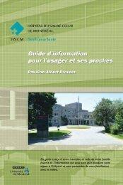 Guide usagés PAP (en suite) - Hôpital du Sacré-Coeur de Montréal