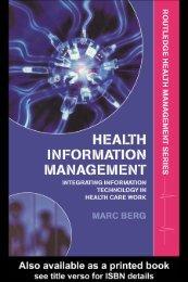Health Information Management: Integrating Information Technology ...