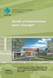 Guide de l'usager 2009 - Hôpital du Sacré-Coeur de Montréal