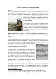 Haiti 2010: Possible scenarios after the earthquake ... - Club of Madrid