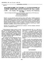 Моделирование гистерезиса в распределении pH вблизи ...