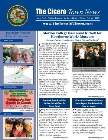 CTN - Feb pages 1 36 4 33.indd - The Town of Cicero