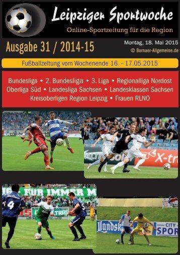 Ausgabe 31 vom 18.05.2015