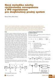 Nová metodika návrhu rýchlostného servopohonu s ... - ATP Journal