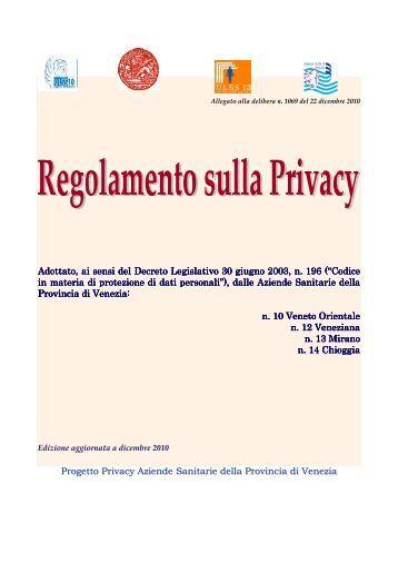 Regolamento - Azienda Ulss 12 veneziana