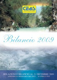 RELAZIONI E BILANCIO AL 31 DICEMBRE 2009