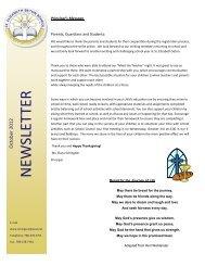 October - St Elizabeth Seton - Edmonton Catholic Schools