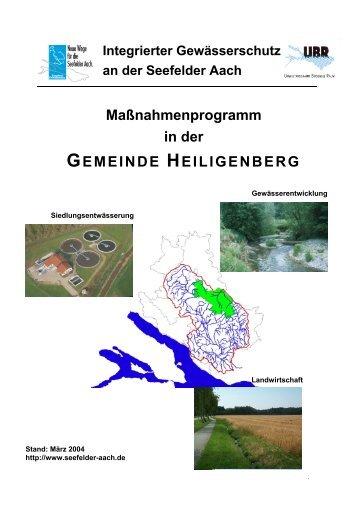 Heiligenberg - Aktionsprogramm Seefelder Aach