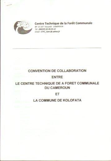 Commune de KOLOFATA - Centre Technique de la Forêt Communale